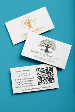 Business Card patient education portal